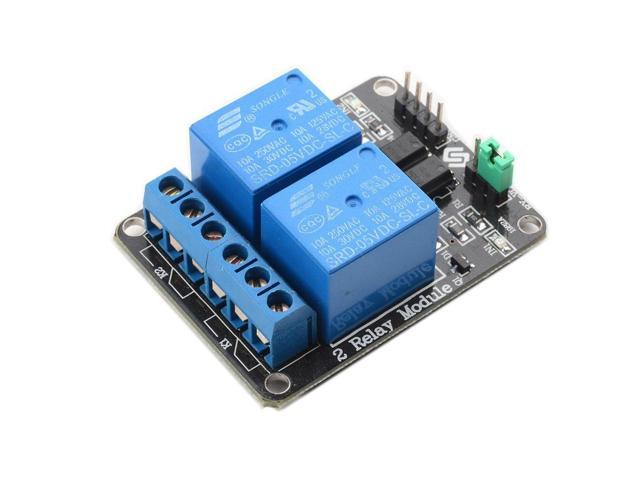SunFounder 2 Channel 5V Relay Shield Module for Arduino UNO 2560 1280 ARM  PIC AVR STM32 - Newegg com