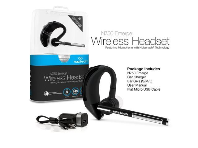 Naztech N750 Emerge Universal Wireless Bluetooth Headset Compatible With Iphone Ipad Android And Other Leading Smartphones Newegg Com