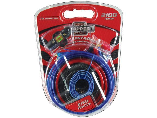 New Audiopipe Pk2150cpr 4 Gauge Car Audio Amplifier Amp Wiring Kit on