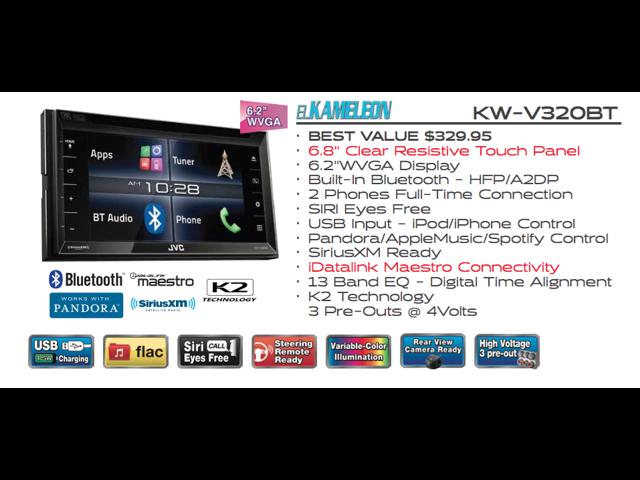 Refurbished: JVC KW-V320BT 6 8
