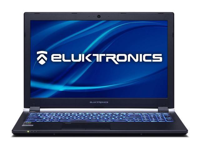 "Eluktronics P955ER Premium Thin & Light VR Ready Gaming Laptop - Intel  i7-8750H Six Core CPU W10 Home 8GB GDDR5 NVIDIA GeForce GTX 1070 Max-Q  15 6"""
