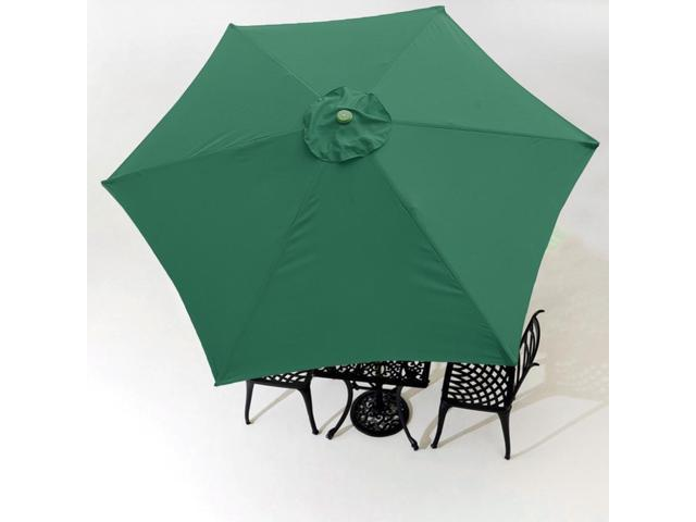 9 Patio Umbrella Replacement Canopy 6 Rib Outdoor Yard Deck Cover Top Color Opt