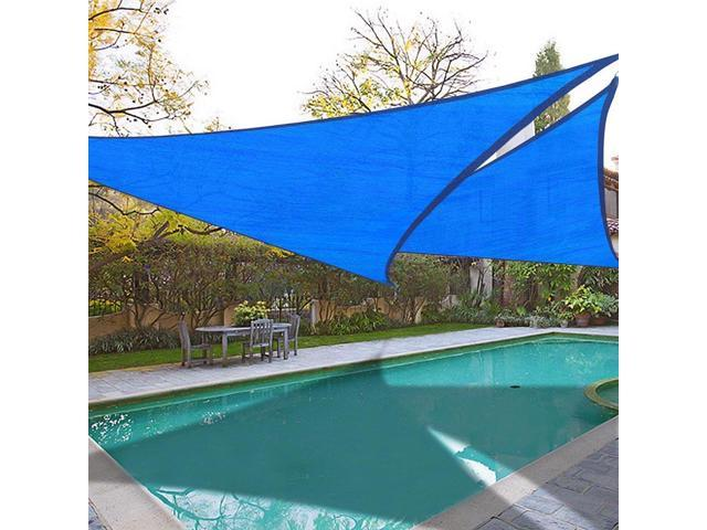 2x 16.5\' Triangle Sun Shade Sail Garden Lawn Pool Outdoor Canopy Cover Top  Blue