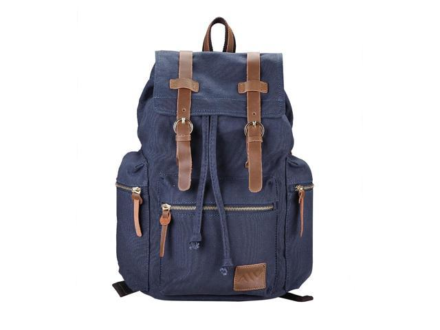 Men Women Vintage Canvas Backpack Rucksack Student Schoolbag Travel Shoulder Bag