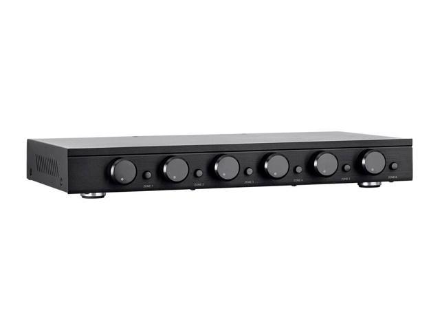 Impedance Protection Individual Zone On//Off Buttons Monoprice SSVC-4.1 Single Input 4-Channel Speaker Selector with Volume Control