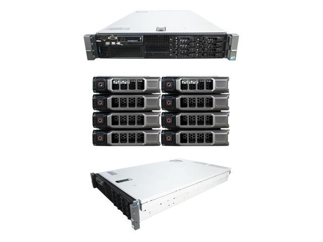 DELL PowerEdge R710 2 x 2 80Ghz X5660 Six Core 72G 8x 600GB 10K SAS 6G H700  Rail - Newegg com