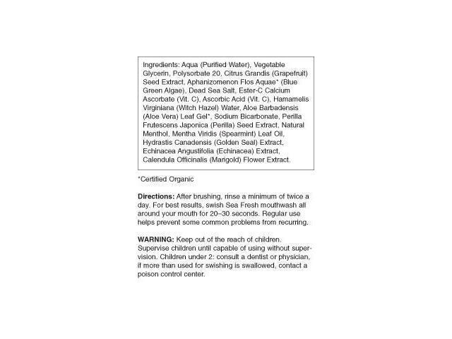 Sea Fresh Strengthening Sea Spearmint Mouthwash - Jason Natural Cosmetics -  16 oz - Liquid - Newegg com