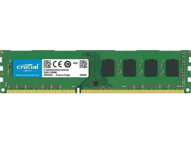 2GB DDR3 PC3-12800 1600MHz DIMM Memory RAM Crucial CT25664BD160B Equivalent