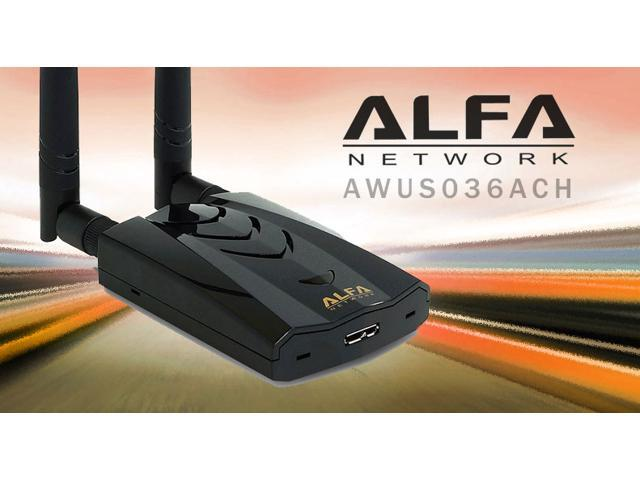 Alfa AWUS036ACH 802 11ac High Power AC1200 Dual Band WiFi USB Adapter -  Newegg com