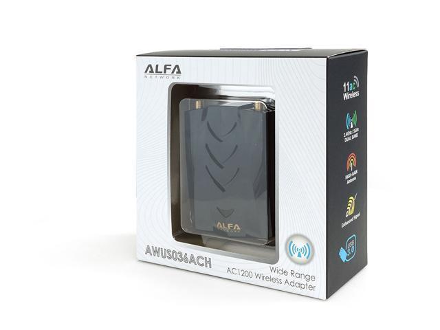 Alfa AWUS036ACH 802 11ac High Power AC1200 Dual Band WiFi USB Adapter -  Newegg com