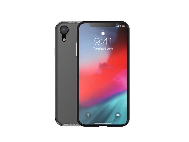 super popular b79f6 4b37d R-JUST Cell Phone Case Tempered Glass Clear Cover Metal Bumper Mobile Phone  Case For iphone XR - Silver - Newegg.com