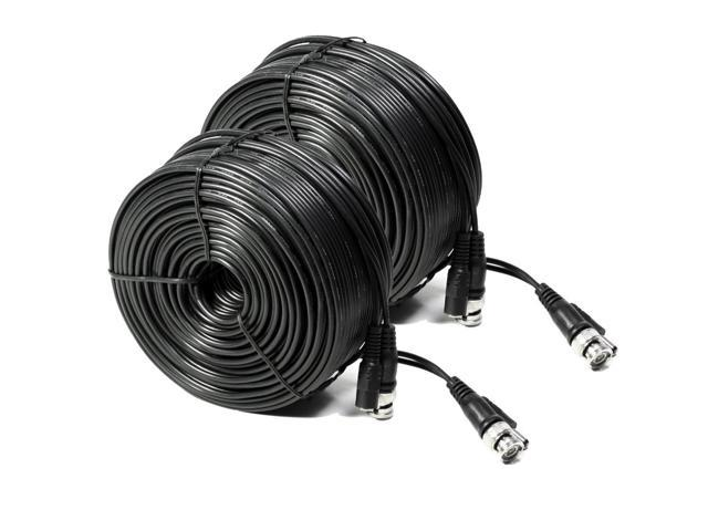 2 Pack Lorex 60ft Black BNC Video Power Siamese Cable for CCTV FAST SHIPPING!!