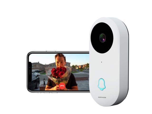 Dophigo Outdoor HD960P Wireless WiFi Doorbell Camera Smartphone CCTV  Security Surveillance 2 Way Audio Night Vision and Free P2P Cloud Storage  Service