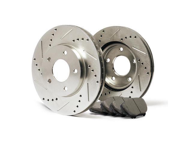 Rear Premium Slotted Drilled Rotors And Ceramic Pads Brake Kit Kt119732 Fits 2013 13 Hyundai Elantra 1 8l Models W Rear Disc Brakes Newegg Ca
