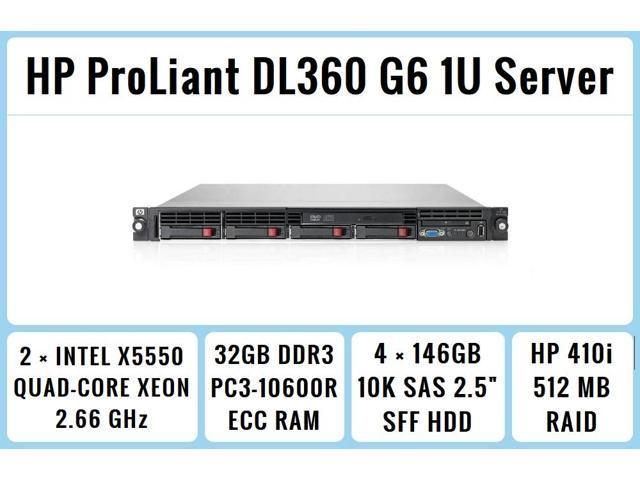 HP ProLiant DL360 G7 8-Bay server 64 GB 192 GB RAM 2x Intel Xeon Six Core