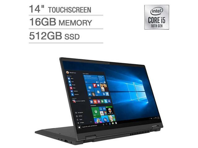Lenovo Ideaflex 5 2 In 1 Laptop Tablet Notebook 81x10009us 512gb Ssd 16gb Memory Ram 14 Touchscreen Touch I5 10th Gen Newegg Com
