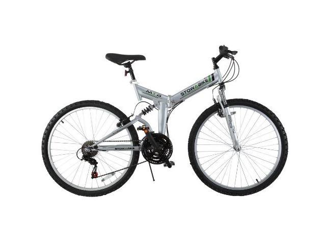 Dual Suspension Mountain Bike >> Stowabike 26 Folding Dual Suspension Mountain Bike 18 Speed Shimano