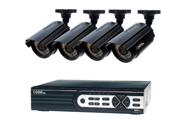 Q-SEE HeritageHD Series Wired 8-Channel 1080p 2TB Video Surveillance System  with (4) 1080p Cameras and 100 ft  Night Vision HD QTH82-4CN-2 Security