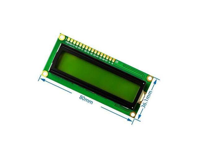 LCD 1602 16x2 HD44780 Character LCD Display Module Yellow green Blacklight  5V - Newegg com