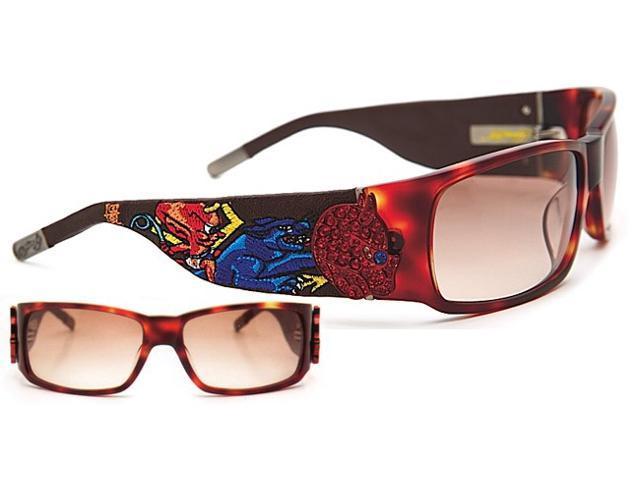 d5dab743b8 Ed Hardy 036 Unisex diseño completo-rim gradiente lentes de gafas de sol,  tortuga