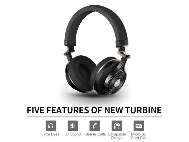 7ae7b580ab3 Bluedio T3 Plus (Turbine 3rd ) Wireless Bluetooth 4.1 Stereo Headphones  with Mic/Micro