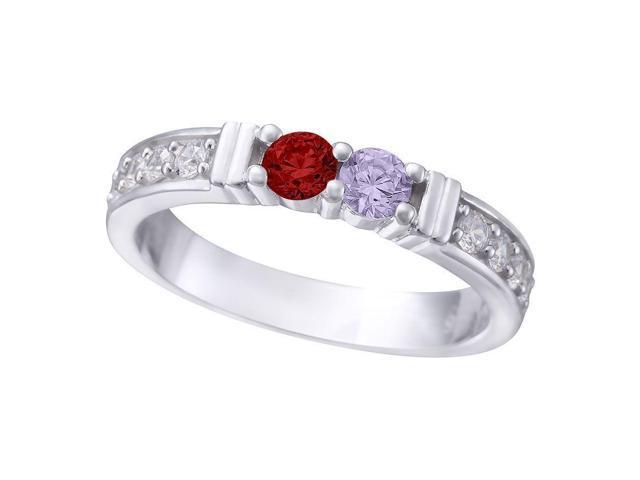 d8f3c59c36cbe NANA Share Prong w/Side Mother's Ring - 14k White Gold - Sz 5 - Newegg.com