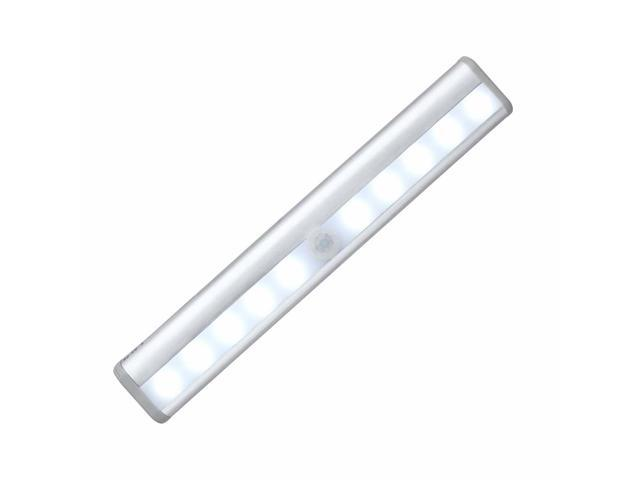 Megadream Stick On Anywhere Portable 10 Led Wireless Motion Sensing Light Bar With Magnetic Strip Closet Cabinet Night Stairs Step