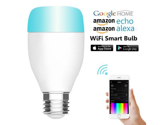 Joso Smart Bulb Wi-Fi LED Light Bulb Smartphone Remote Controlled White and Dimmable Multicolored Color Changing Wake Up Lights,compatible with Alexa