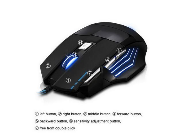 fc809cb9f77 NEW Zelotes 5500 DPI 7 Button USB LED Light Optical Wired Gaming Mouse for Pro  Gamer