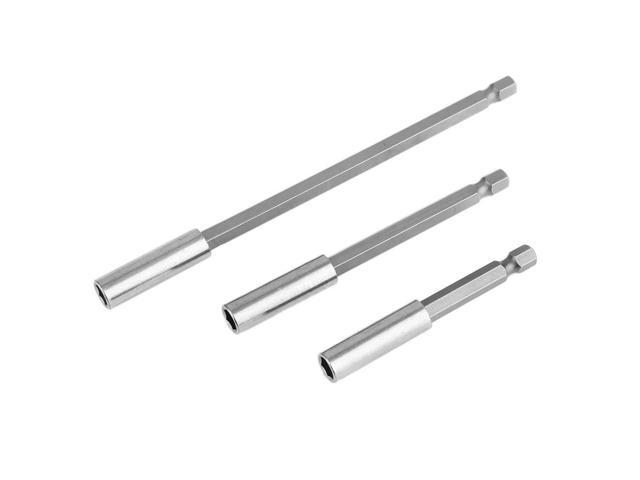 3pcs Hex Shank Magnetic Drill Bit Extension Connector 3 Different Types  Screwdriver Extension Bit Drill Bits Set silvery white - Newegg com