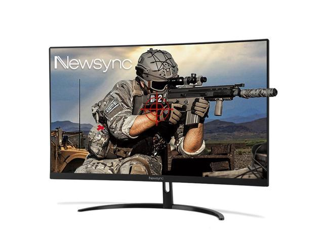 NEWSYNC 27 inch 144Hz 1ms 1080p Curved Gaming Mointor (1800R, AMD Free  Sync, Cross-Hair Target, Flicker-Free, Low-Blue Light, Black Level, Slim  Bezel)