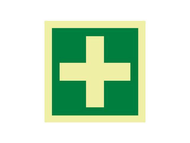 Nmc Imo220r Imo Symbol Medical Locker First Aid 6x6 Glow Rigid