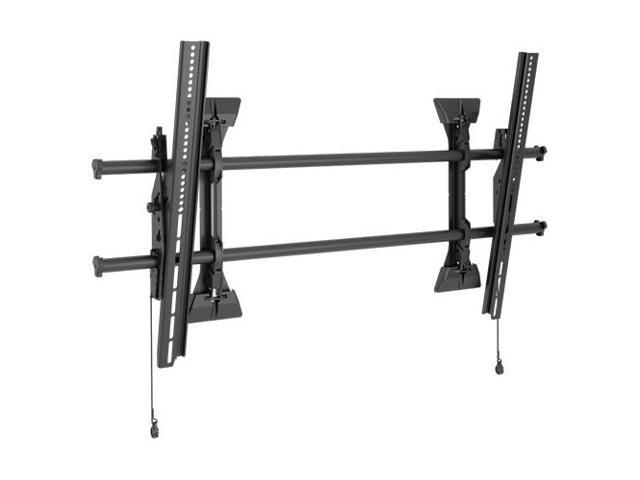 Chief XTM1U X-Large Fusion - Mounting Kit ( Tilt Wall Mount, 2 Interface  Brackets ) For Lcd / Plasma Panel - Black - Screen Size: 55 Inch - 82 Inch  -