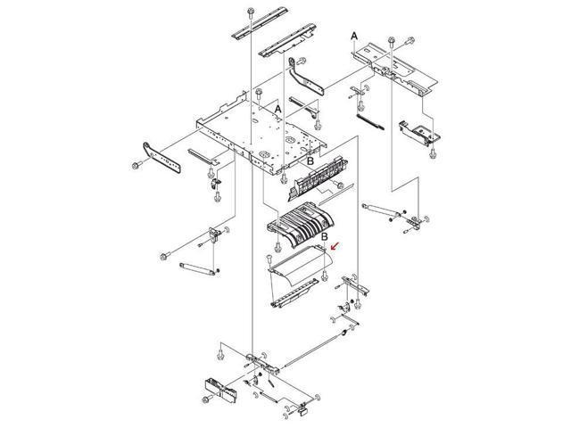 Hp Rc1 2853 000cn Upper Cartridge Guide
