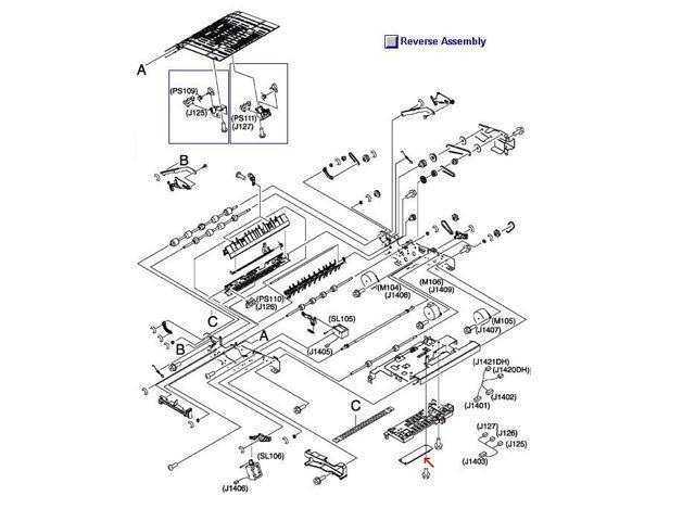 Hp Rm1 1379 000cn Reversing Unit Intermediate Pc Board