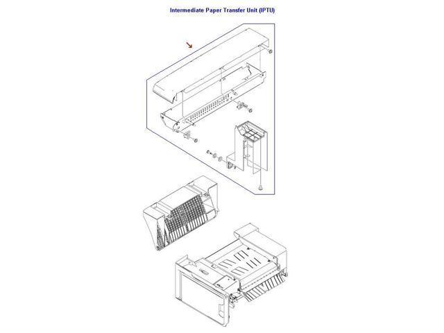 Hp Rm1 2295 000cn Intermediate Paper Transfer Unit Iptu Top Cover