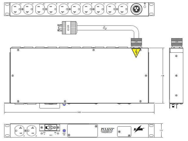 Batteries, Chargers & Accessories Electronics 12 x NEMA 5-20R 1.92 ...