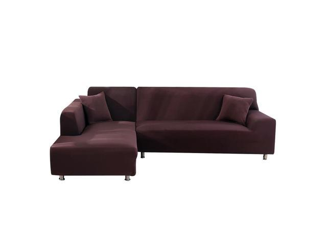 2PCS Stretch 3 Seater Sofa Cover Solid Color Sofa Slipcover L-Shaped  Sectional Sofa Couch Cover Furniture Protector - Newegg.com