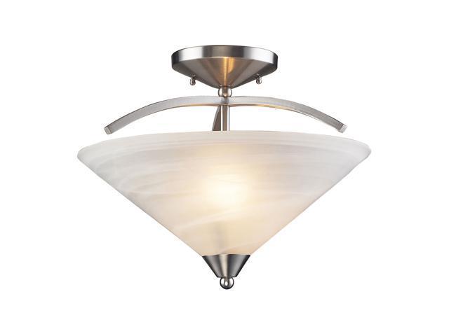 Elk Lighting Elysburg 2 Light Semi Flush Satin Nickel 7633 Newegg