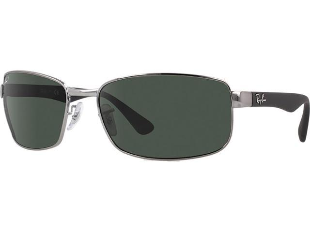 86d35afdfb1 Ray-Ban RB3478 Polarized Rectangle Sunglasses (Gunmetal Gray Polar Green)