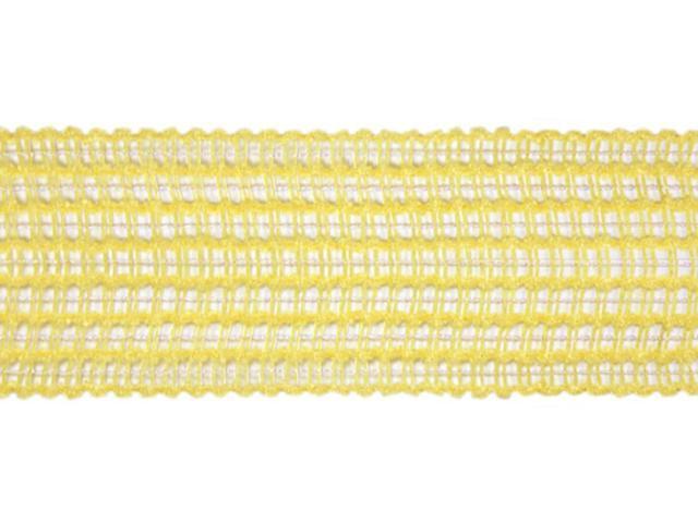 pale lemon yellow mesh wired wedding and craft ribbon 15