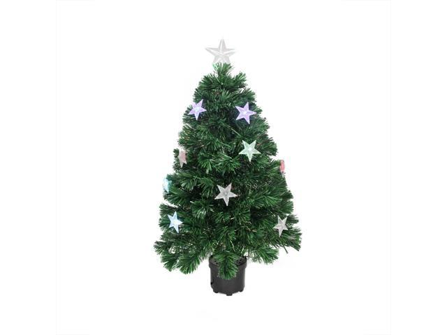 6d16a2d6dbeb 4  Pre-Lit LED Artificial Fiber Optic Christmas Tree With Color Changing  Stars