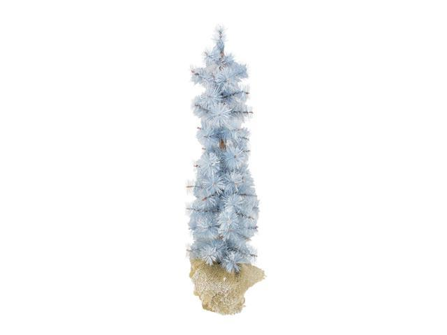 2' Winter Light Frosted Blue Pine Artificial Christmas