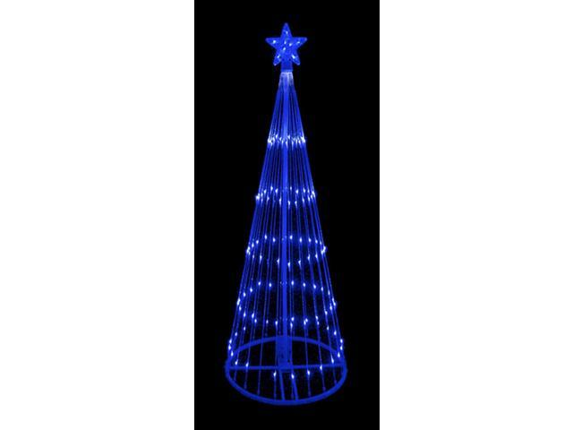 9' Blue LED Light Show Cone Christmas Tree Lighted Outdoor