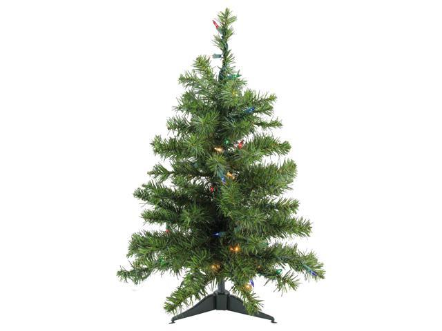 2' Pre-Lit Natural Two-Tone Pine Artificial Christmas Tree