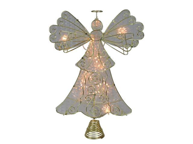 Angel Christmas Tree Topper.13 Lighted Gold With Reflector Angel Christmas Tree Topper Clear Lights Newegg Com