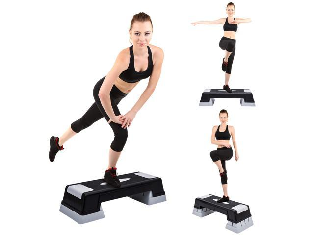 Soozier Aerobic Stepper 3 Level Riser Fitness Cardio Workout Steps 47