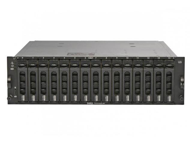 Dell PowerVault MD1000 15x 1TB SAS STORAGE RAILS DUAL P//S EMM CONTROLLER