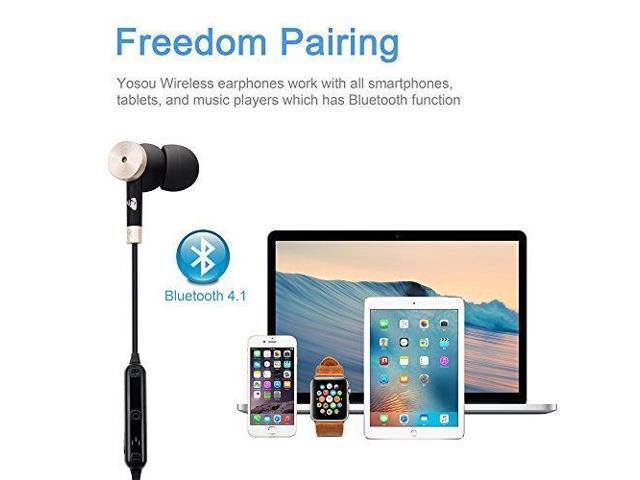 Wireless Headphones YOSOU Bluetooth Headset Magnetic In Earbuds with  Microphone Lightweight Earphones Workout with Stereo Music for Sport,  Running,