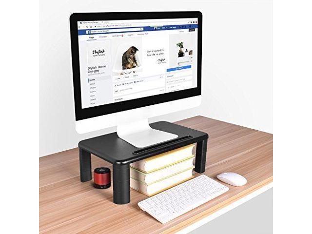 Monitor Stand Riser with Adjustable Height and Storage Organizer for  Computer, iMac, Printer, Laptop, Desk (Tablet & Phone Holder, Cable  Management